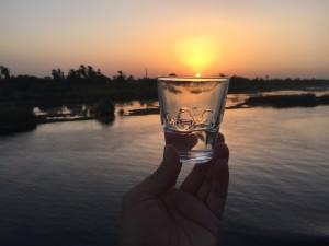 尼罗河日落