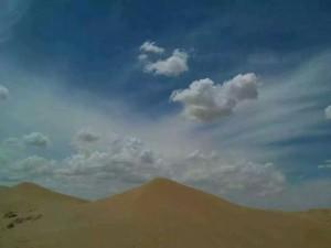 库布齐沙漠徒步_2
