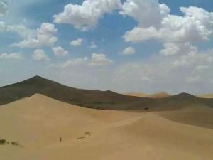 库布齐沙漠徒步_3
